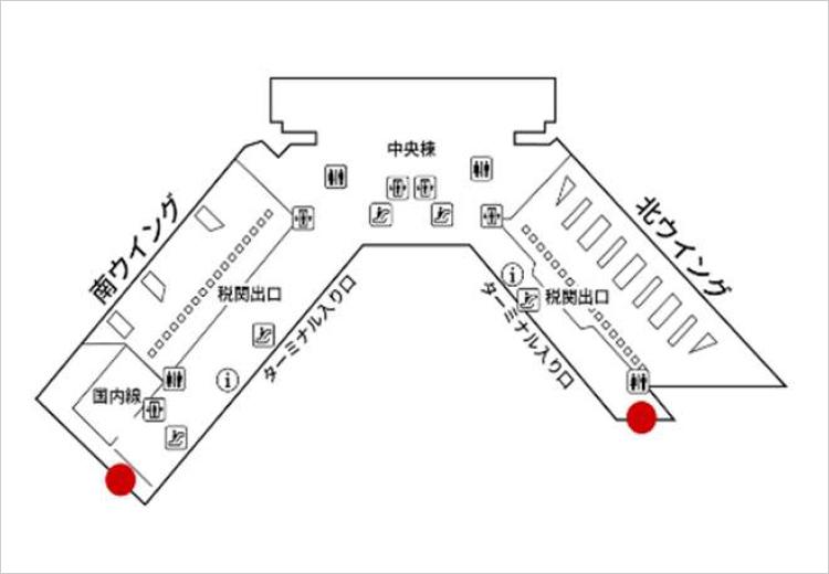 成田国際空港 第1旅客ターミナル 南ウイング 地図